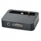 8-Pin Lightning to 30-Pin Charging Dock w/ 3.5mm Extender Cable for iPhone 5 - Black