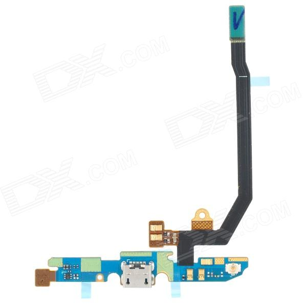 Replacement Micro USB Power Charging Port Flex Cable for LG P880 Optimus 4X HD - Black + Blue replacement charging tail plug connector flex cable for iphone 6 4 7 black blue multi colored