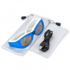 Gonbes G07-A 3D Active Shutter Bluetooth V2.1 Glasses for TV - Blue + White