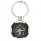SALY-5123 Creative Compass Style Zinc Alloy Keychain - Silver + Black