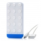 T501 Saugnapf Stil Externe 4500mAh Emergency Power Charger für iPhone / Cell Phones - White