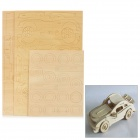 Intelligence Plywood Building Block Car Toy - Wheat