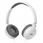 SaLaR EM520 Fashion Stereo Headphones Headset - White + Grey