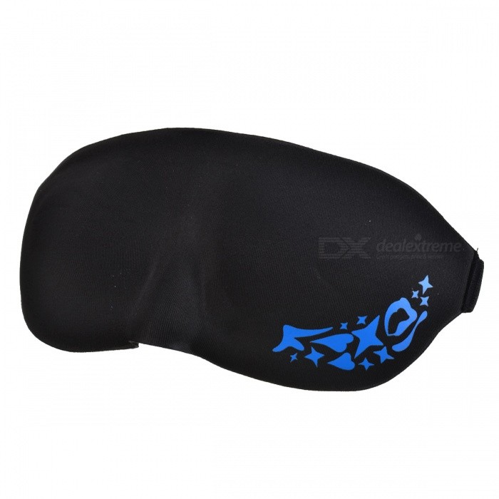 YuanMu 800090 3D Wagon-Headed Foam Eye Mask - Black