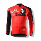 SPAKCT CSY383 Fashion Che Guevara Pattern Bicycle Cycling Long Sleeves Jersey - Red + Black (XXL)