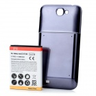 "Replacement ""6500"" mAh Extended Battery w / Battery Cover für Samsung Galaxy Note N7100 2 - Dark Blue"
