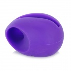 Cute Silicone Stand Audio Amplifier for iPhone 5 - Purple