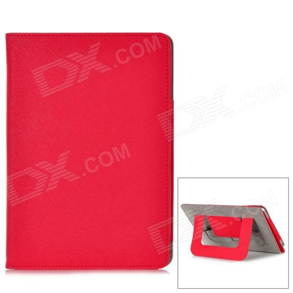 Protective PU Leather + Microfiber Case w/ Dormancy Function for Ipad MINI - Red protective pu leather microfiber case w dormancy function for ipad mini green