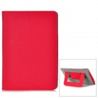 Protective PU Leather + Microfiber Case w/ Dormancy Function for Ipad MINI - Red