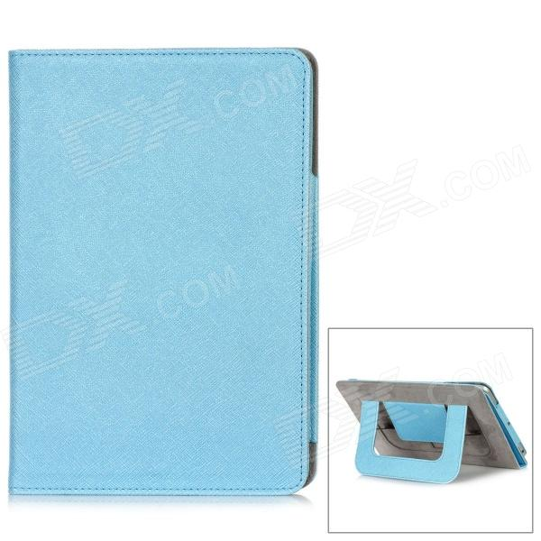 Protective PU Leather + Microfiber Case for Ipad MINI - Blue protective pu leather microfiber case w dormancy function for ipad mini green