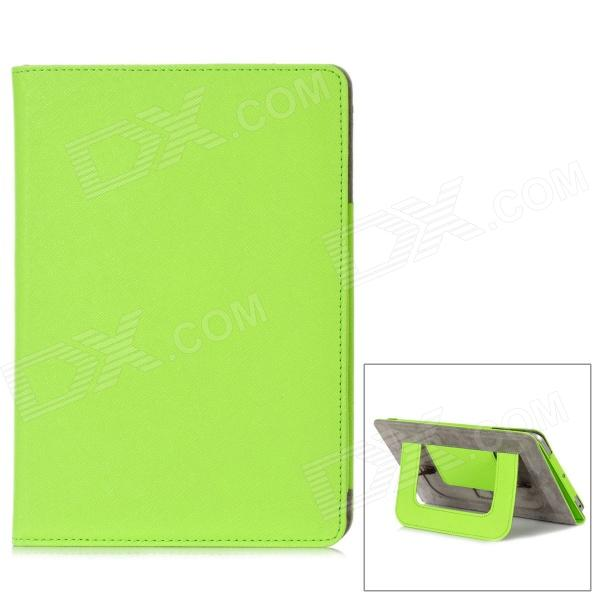 Protective PU Leather + Microfiber Case w/ Dormancy Function for Ipad MINI - Green protective pu leather microfiber case w dormancy function for ipad mini green