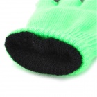 3-Finger Capacitive Screen Touching Hand Warmer Gloves - Fluorescence Green (Pair / Free Size)