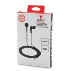 BSBESTE BSB-125 3.5mm Plug In-Ear Earphones w/ Microphone - Black