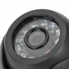 "1/3"" CCD Surveillance Security Camera w/ 12-IR LED Night Vision - Black"