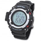 Spovan Blade-II-A Multi-Function Waterproof Outdoor Sport Digital Wrist Watch - Black (1 x CR2025)