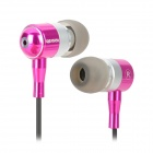 Apolok ME-C905-1 High Fidelity Stereo In-Ear Earphones - Deep Pink + Black (3.5mm Plug / 120cm)