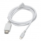 CY MH-006 Micro USB MHL to HDMI Cable for Samsung Galaxy S II / i9100 - White (1.5m)