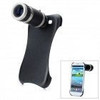 8x Camera Zoom Optical Telescope Lens + Back Cover for Samsung Galaxy S3 i9300 - Black + Silver