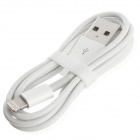 Lightning 8-Pin Male to USB Data / Charging Cable w/ Original IC for Iphone 5 - White (95cm)