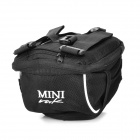 Mini Multifunctional Cycling Bicycle Bike Fashion Saddle Seat Tail Bag w/ Rain Cover - Black