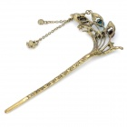 Peacock Tail Shape Retro Brass Hair Decoration Hairpin - Multicolored