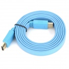 Gold-plated 1080P HDMI 1.4 Male to Male Connection Cable - Light Blue (150cm)