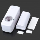 Automatic Toothpaste Dispenser + Toothbrush Holder Set - White + Silver