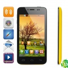 "T6198 Android 2.3 GSM Bar Phone w/ 4.3"" Capacitive Screen, Dual-Band and Wi-Fi - Yellow + Black"