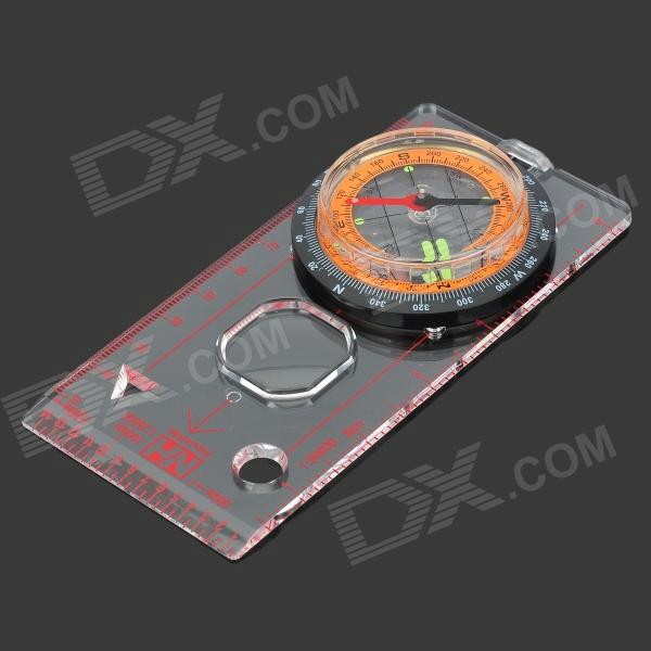 NatureHike Multi-functional Outdoor Cross-country Orienteering PVC Compass - Orange + Black