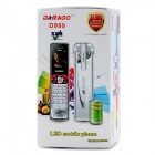 "DARAGO D999 GSM Cellphone w/ 1.45"" Screen, Quad-Band, Bluetooth and LED Flashlight - White + Silver"