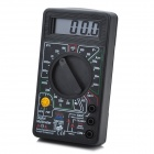 "830B 1.8"" LCD Digital Voltage / Current / hFE Measurement Multimeter - Black + White (1 x 6F22)"