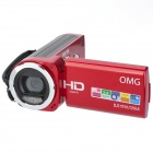 OMG TDV-1121 2.4'' TFT 1.3 MP CMOS Digital Camcorder w/ Mini USB / AV-out - Red