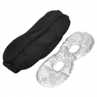 YuanMu L008 3D Wagon-Headed Eye Mask Eyeshade w/ IR Magnetic Hot Cold Therapy Pack - Black