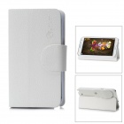 Alis Protective PU Leather Flip-Open Case for Samsung Galaxy Note 2 / N7100 - White