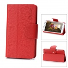 Alis Protective PU Leather Flip-Open Case for Samsung Galaxy Note 2 / N7100 - Red