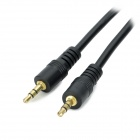 ZX-0037 DC 3.5 Male to Male Audio Cable w/ Golden-plated Head - Black (2.6m)