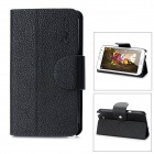 Alis Protective PU Leather Flip-Open Case for Samsung Galaxy Note 2 / N7100 - Black