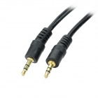 ZX-0038 DC 3.5 Män till Male Audio Cable w / Guldpläterad Head - Black (4.5m)