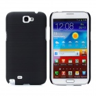 Protective Plastic Back Case w/ Cover / Back Clip for Samsung Galaxy Note II N7100 - Black