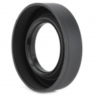 Portable 3-Fold 58mm Wide Angle Medium Telephoto Rubber Lens Hood for Camera - Black