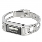 Q-D68 Bluetooth v1.2 Bracelet Watch - Silver + Black