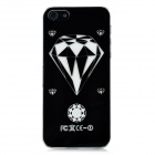 Diamond Pattern Protective Case w/ Caller Signal Flashing LED for Iphone 5- Black (1 x CR2016)
