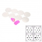 #21-28 Nail Art DIY Print Pattern Manicure Machine Stamper Set - Silver