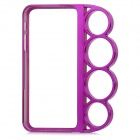ZH-05 Rings Style Protective Plastic Bumper Frame for Iphone 5 - Purple