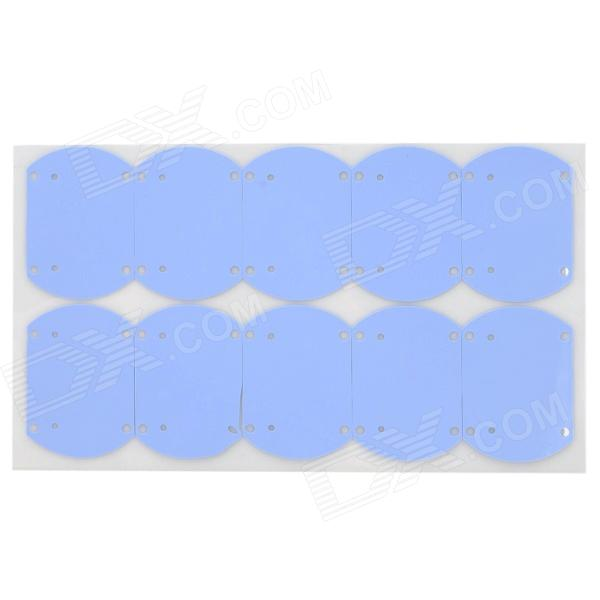 LED Bulb Radiating Fireproof Silicone Pads - Blue (10 PCS)