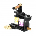 97191 Custom Cast Iron Alloy Tattoo Machine Liner Shader Gun - Black + White