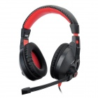 COSONIC CT-833 Stylish Gaming Stereo Headphones w/ Microphone - Black + Red (3.5mm Plug)