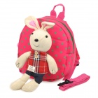 Rabbit Style Safety Harness Anti-Lost Kid Keeper Backpack - Deep Pink