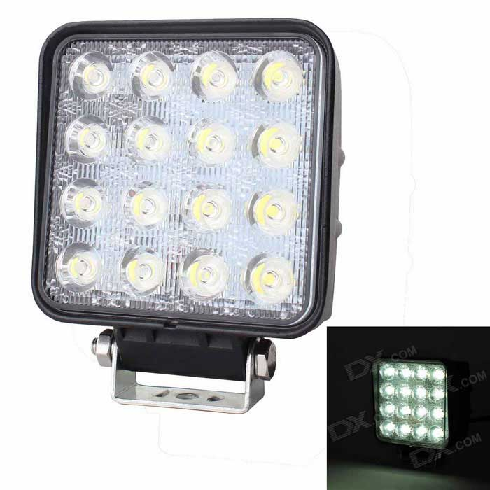 LML 48W LED Car Vehicle Working Lamp 6000K 4320lm Waterproof 16-LED (DC 10~30V)