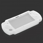 Silicone Protective Full Case for PSP 3000/2000 - Covers Buttons (White)